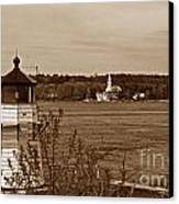 Squirrel Point Lighthouse Canvas Print by Skip Willits