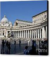St Peter's Square. Vatican City. Rome. Lazio. Italy. Europe Canvas Print