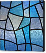 Stained Glass Background With Ice Flowers Canvas Print by Kiril Stanchev
