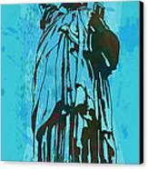 Statue Liberty - Pop Stylised Art Poster Canvas Print