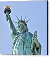Statue Of Liberty Closeup  In New York City Manhattan Canvas Print by Songquan Deng