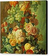 Still Life With Fruit And Flowers Canvas Print