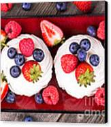 Summer Fruit Platter Canvas Print by Jane Rix