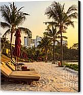 Sunset Holiday Canvas Print by Niphon Chanthana