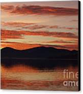Sunset Over Lake Tahoe Canvas Print by Benjamin Reed