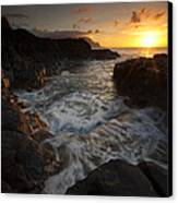 Sunset Pool Canvas Print by Mike  Dawson