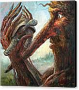 Surprise Encounter Canvas Print by Frank Robert Dixon