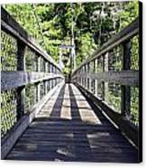 Suspension Bridge Canvas Print by Susan Leggett