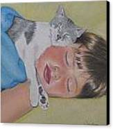 Sweet Dreams Canvas Print by Kathy Weidner