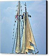 Tall Ship Harvey Gamage Canvas Print by Skip Willits