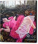 teddy Bears Picnic Canvas Print by Shelley Laffal