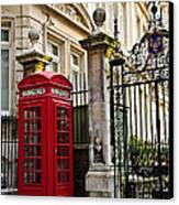 Telephone Box In London Canvas Print by Elena Elisseeva