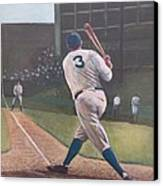 The Babe Sends One Out Canvas Print