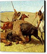 The Buffalo Hunt Canvas Print by Frederic Remington