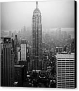 The Empire State Building In New York City Canvas Print