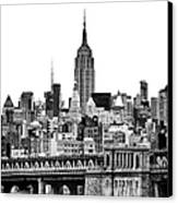 The Empire State Building Canvas Print by John Farnan