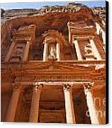 The Facade Of Al Khazneh In Petra Jordan Canvas Print by Robert Preston