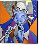 The Flutist Canvas Print by Anthony Falbo