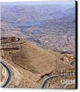 The King's Highway At Wadi Mujib Jordan Canvas Print by Robert Preston