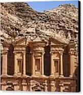 The Monastery At Petra In Jordan Canvas Print by Robert Preston
