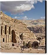 The Monastery El Deir Or Al Deir Canvas Print