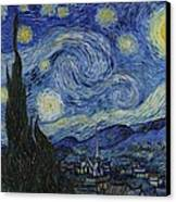 The Starry Night Canvas Print by Vincent Van Gogh