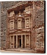 the treasury Nabataean ancient town Petra Canvas Print by Juergen Ritterbach