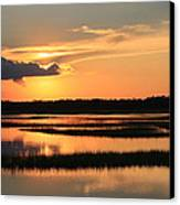 Tidal Marsh Wilmington Nc Canvas Print by Mountains to the Sea Photo