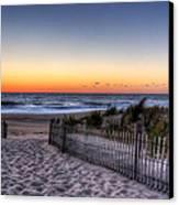 Tower Beach Sunrise Canvas Print by David Dufresne