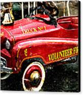 Toy Fire Truck Canvas Print by Bobbi Feasel