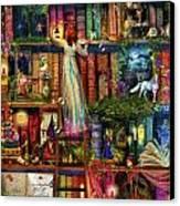 Treasure Hunt Book Shelf Canvas Print