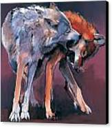 Two Wolves Canvas Print by Mark Adlington