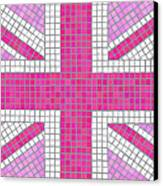 Union Jack Pink Canvas Print by Jane Rix