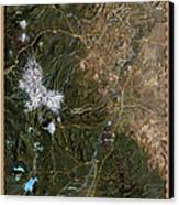 Upper Deschutes River Canvas Print by Pete Chadwell