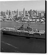 Uss Boxer In San Diego  Canvas Print by Mountain Dreams