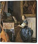 Vermeer, Johannes 1632-1675. A Young Canvas Print