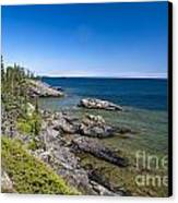 View Of Rock Harbor And Lake Superior Isle Royale National Park Canvas Print