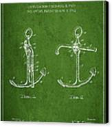 Vintage Anchor Patent Drawing From 1902 Canvas Print