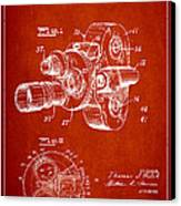 Vintage Camera Patent Drawing From 1938 Canvas Print by Aged Pixel