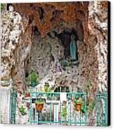 Virgin Mary Grotto Canvas Print