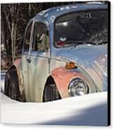 Volkswagen Beetle Canvas Print by Jennifer Kimberly
