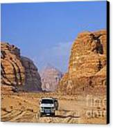 Wadi Rum In Jordan Canvas Print by Robert Preston