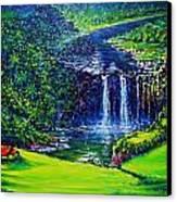 Waimea Falls  Canvas Print by Joseph   Ruff