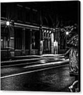 Walking In The Rain   Canvas Print by Bob Orsillo