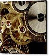 Watch Mechanism. Close-up Canvas Print