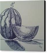 Watermelon Canvas Print by Emese Varga