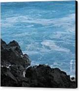 Wave - Vague - Ile De La Reunion - Reunion Island Canvas Print by Francoise Leandre