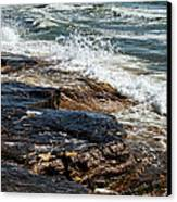 Waves Break On The Rocks. Canvas Print by Alexandr  Malyshev