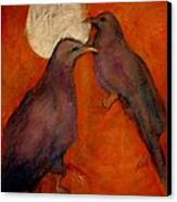 When Crow Made The Moon Canvas Print by Johanna Elik