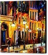 When The City Sleeps Canvas Print by Leonid Afremov